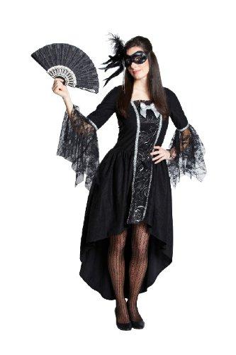 Rubie's Karneval Damen Kostüm Maskenball Kleid schwarz Barock Rokoko Gr.40