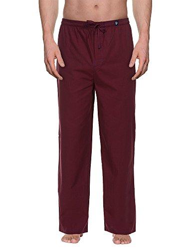 Bruno Banani Woven Pant Habitat MEN-Pantaloni pigiama uomo,    Rot (bordeaux stripes 1791) Medio (dimensione produttore: M)