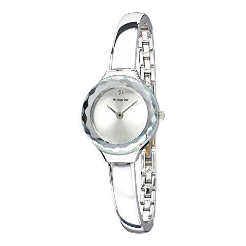 Accurist lb1479s–Reloj de pulsera de mujer, correa de acero inoxidable color plata