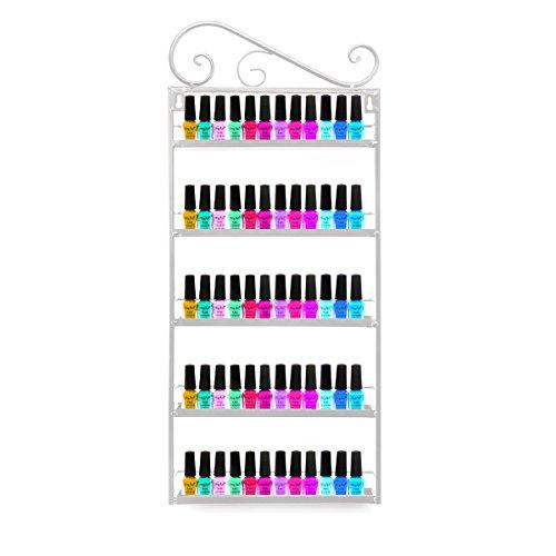 Dazone® 5-tier Metall Herz Nagellack Organizer Aromatherapie und ätherischen Ölen Regal Lippenstiftständer Aufbewahrung (Weiß) - Nagellack Aufbewahrung