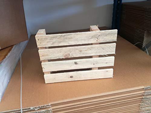 3/3 Trittbrett (Paletten 60x 40aus Holz für kleine Versand Palette pancale Trittbrett, 3)