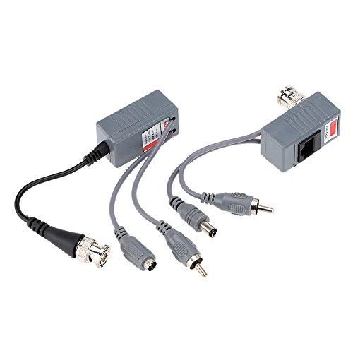 KKmoon CCTV-Kamera Audio Video Power Balun Transceiver BNC UTP RJ45 mit Audio/Video und macht über CAT5/5E/6 Kabel