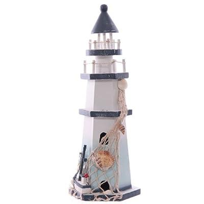 Wooden Lighthouse Seaside Decoration 30cm