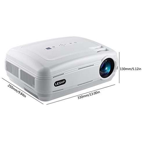 Projector leshp 3200 Lumens 1080p Full HD Projector Mini Portable Projector with HDMI/VGA/AV/USB PC Computer Xbox TV Ideal for TV Home Theater