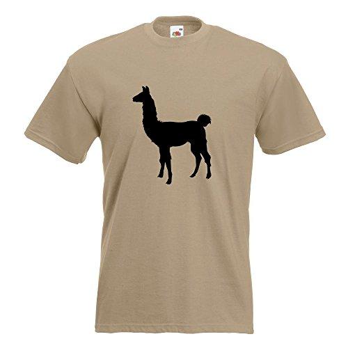 KIWISTAR - Lama Alpaca Kamel T-Shirt in 15 verschiedenen Farben - Herren Funshirt bedruckt Design Sprüche Spruch Motive Oberteil Baumwolle Print Größe S M L XL XXL Khaki