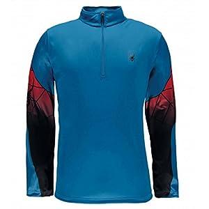 Spyder Herren Skirolli Webstrong Web DRY W.E.B.(TM) T-Neck langarm Shirt blau