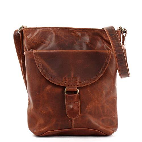7fde938ad6bdc LECONI Umhängetasche Schultertasche Damen Damentasche Frauen Handtasche  Ledertasche Used-Look Leder 25x26x5cm braun LE3072-wax