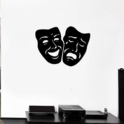 ske Tragödie Und Comedy Theater Vinyl Aufkleber Aufkleber für Wohnzimmer Heimkino Wanddekoration 56 * 41 cm ()