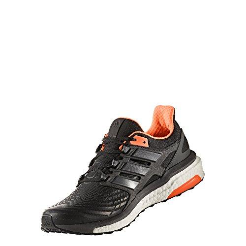 adidas Herren Energy Boost Laufschuhe Schwarz (Core Black/Utility Black/Solar Orange)