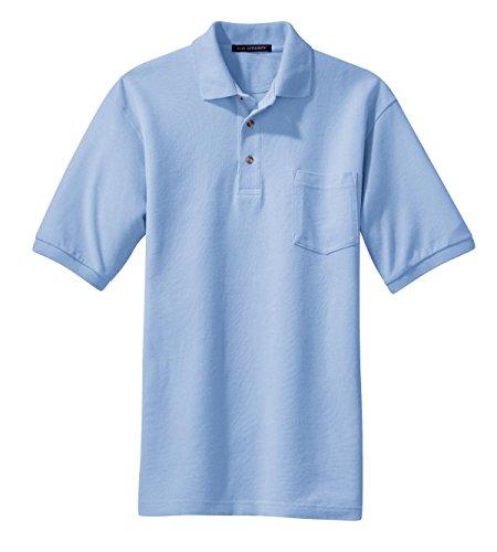 Port Authority Pique Sport Shirt W Tasche (k420p) Blau - Hellblau