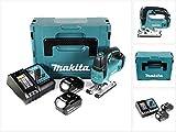 Makita DJV 182 RMJ Akku Stichsäge 18V Brushless 26mm im Makpac mit 2x BL1840B 4,0 Ah Akku und DC18RC Ladegerät