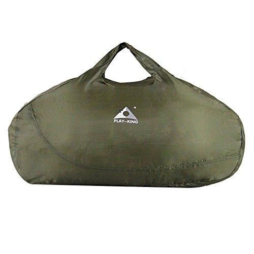 Lanlan zusammenklappbar Pack Sport Leicht Tragbar Wasserdicht Reise Rucksack Bergsteigen Tasche Paket Für Camping Wandern, 1336-Army green