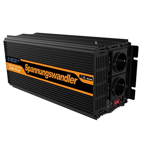 Con este inversor de corriente Puedes normal 220V/230V/240V aparatos eléctricos en el coche/barco/caravanas, o incluso en su huerto. tenga en cuenta este inversor se debe conectar a batería de 12V de potencia Características: No. modelo: 2000W 1...