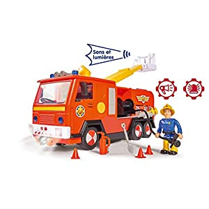 Smoby – Slp Jupiter + 1 Fig Fireman Truck, 7/109251038002WEB, Red