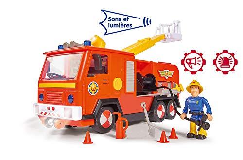 Smoby – Sam le Pompier – Camion Pompier Jupiter Sons et Lumières + 1 Figurine