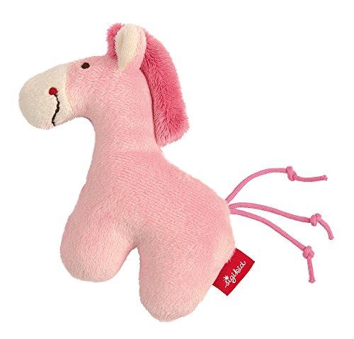 (sigikid, Mädchen, Mini-Rassel Pferd, Red Stars, Pink, 42188)