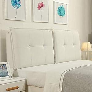 QIANCHENG-Cushion Kopfteil Kissen für Bett Rückenlehnen Bedside große Rückenlehne Weicher Fall Taillenkissen, 3 Farben…