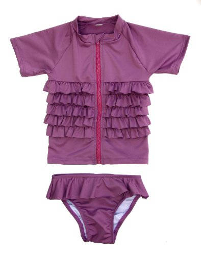 swimzip-zweiteiler-uv-kids-kurzer-arm-ruffle-me-pretty-traje-de-bano-color-morado-talla-6-jahr