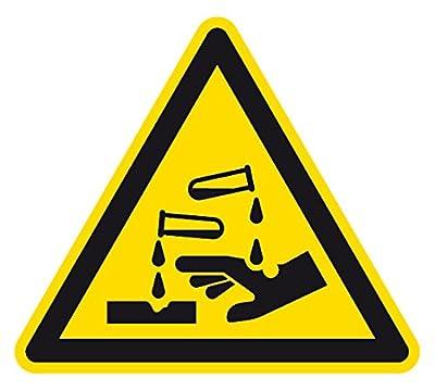 Warnzeichen - Warnung vor ätzenden Stoffen - Folie Selbstklebend