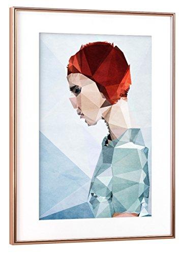 artboxONE Poster mit Rahmen 75x50 cm Menschen