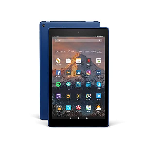 Fire HD 10-Tablet, 1080p Full HD-Display, 32 GB, Blau, mit Spezialangeboten