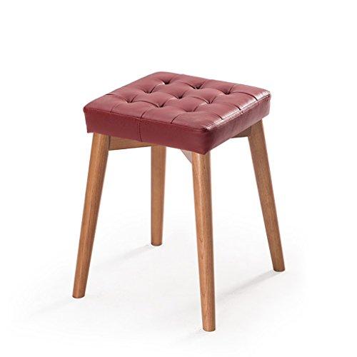 LQQGXL Europäischer Stuhl Massivholz Esszimmer Hocker Hocker Kann Gestapelt Werden Hocker Kreative Mode Dressing Hocker Stoff Tisch und Hocker Hause Kleine Bank (Farbe : A, Größe : #2) (Esszimmer Hocker Bar Schlafzimmer)