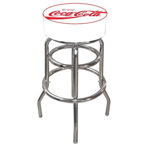 (Trademark Gameroom Coca-Cola Enjoy Gepolsterter Barhocker mit Drehgelenk)