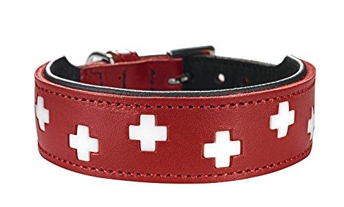 Hunter Hundehalsband im Schweiz-Design, aus Bio-Leder