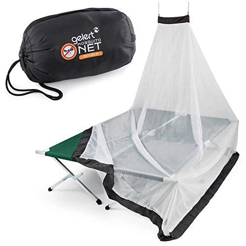 Gelert XXL Doppel Moskitonetz Mückenschutz-Netz für Reisen - Insekten-Schutz Abwehr