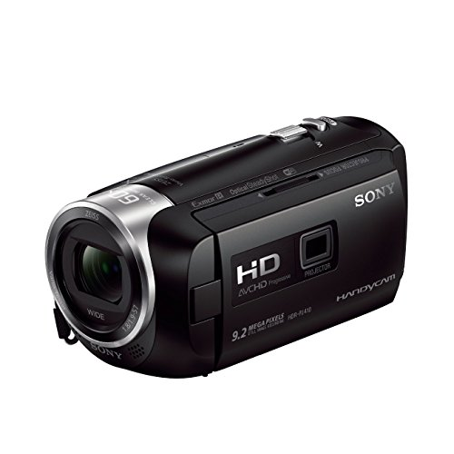 Sony HDR-PJ410 Full HD Camcorder (30-fach opt. Zoom, 60x Klarbild-Zoom, Weitwinkel mit 26,8 mm, Optical Steady Shot) schwarz - Sony Kamera Digitale Wasserdichte