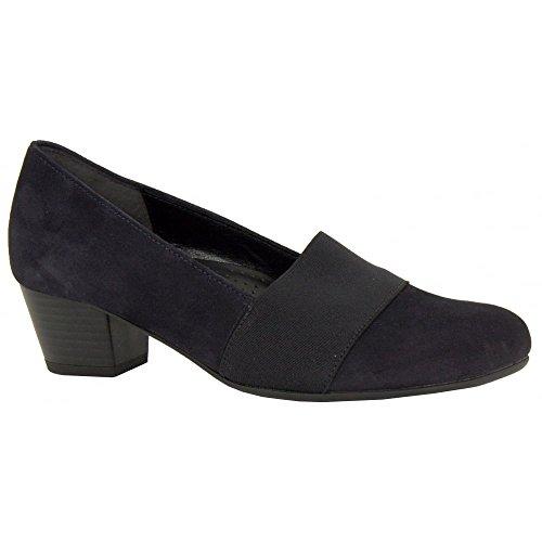 Gabor Shoes Comfort Fashion, Scarpe con Tacco Donna Navy Suede