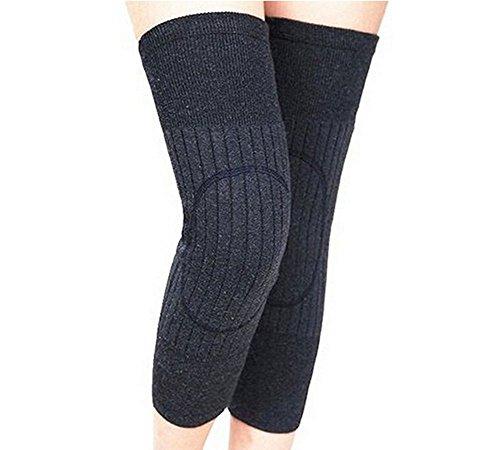 Unisex Wolle Cashmere Kniebandage Pads Winter Warm Thermo-Knielinge Sleeve für Frauen Herren
