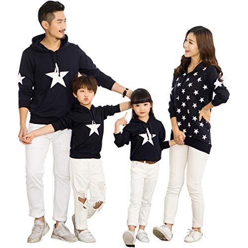 tfit Pullover Sweatshirt Hoodie Mutter Vater Kind Kleidung Weihnachten Familie T-Shirts Matching Shirts, Weiß-kinder, 130-140cm ()
