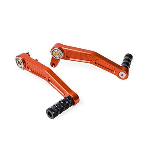 H2RACING Motorrad Orange Aluminium CNC Bremse Pedal Hebel Bremshebel Fuß Bremsen Schalthebel Hebel für 125 Duke 2011-2015 200 Duke 2012-2016 390 Duke 2013-2016 RC125/RC200/RC390 2014-2016