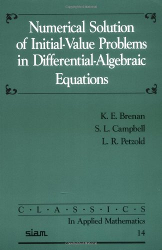 Numerical Solution of Initial-Value Problems in Differential-Algebraic Equations 2nd Edition Paperback (Classics in Applied Mathematics)