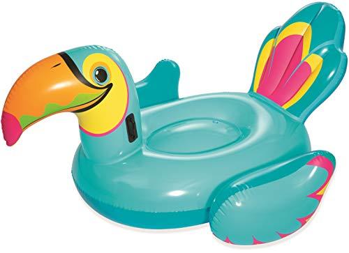Bestway Float\'N Fashion | 41126 - Gonfiabile Mare Cavalcabile Tucano, Multicolore, 207 x 150 cm
