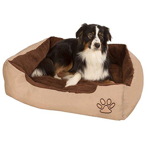 """TecTake Hundebett Hundekissen Hundesofa Schlafbett braun – diverse Größen – (Größe """"XL"""") - 3"""