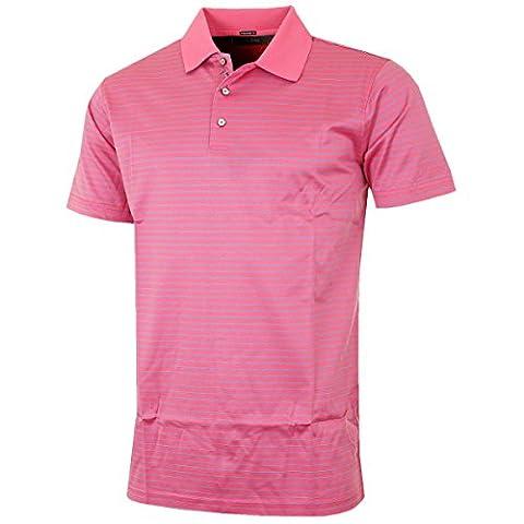 Bobby Jones 2016 Mens Walker Pin Stripe Tailored Fit Polo Shirt - Maui - L