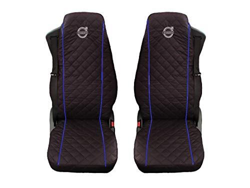 Preisvergleich Produktbild Unknow LKW Volvo FH12;FH16 / FH3 2 x LKW-Sitzbezüge Blaue Beats / 1 für den Fahrer und 1 für den Beifahrersitz