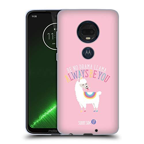 Head Case Designs Offizielle Muy Pop Lama Sonnige Seite Hoch Tiere Soft Gel Hülle für Motorola Moto G7 Plus