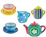 Webby DIY Kitchen Ceramic Tea Set for Kids - 15 Pieces