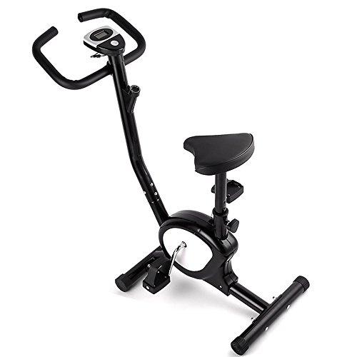 Heimtrainer Fahrrad, Mbuynow Fitness Fahrrad Fitnessbike mit Widerstandskontrolle Zeitmessung Trainingsstrecke Geschwindigkeit Kalorienverbrauch, Ergometer Heimtrainer Benutzergewicht bis 100-110 kg
