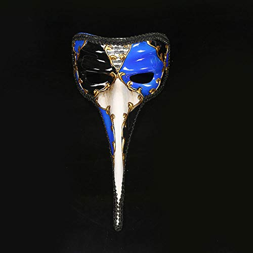 WASENJ Halloween Horror Maske Grimasse Maske Bemalte Große Lange Nasenmaske Party Hip Hop Maske, - Sprühfarbe Hunde Kostüm