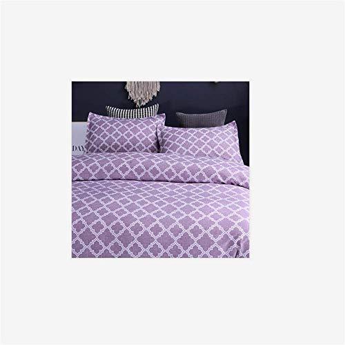 HUANG LI HAN Reaktiv Bedruckte Bettwäsche 3-teiliger Bettbezug Kissenbezug Grün Lila Rot Grau Blau Bettlinie Heimtextilien
