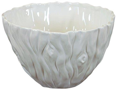 Elegante y hermosa, bol de cerámica en color blanco pequeño