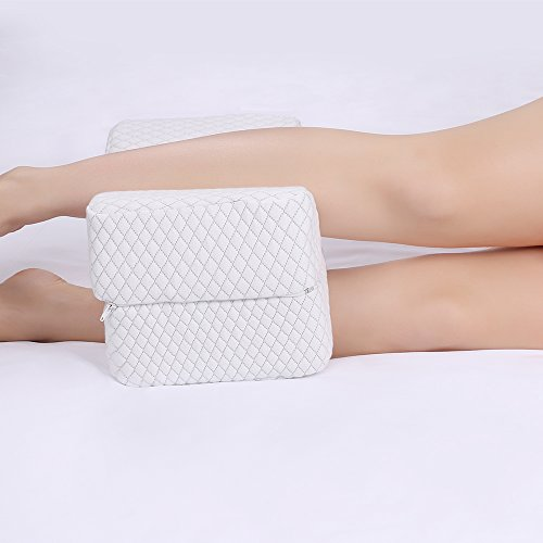 NURSAL Memory Foam Knee Pillow for Sciatica Relief, Back Pain, Leg Pain, Hip, Pregnancy and Side Sleepers, Orthopedic Leg Pillow With Breathable Washable Cover and Ergonomic Support Design