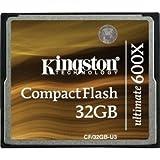 New Kingston Ultimate 32 GB 600X Compact Flash Card - marrone (CF/32GB-U3)