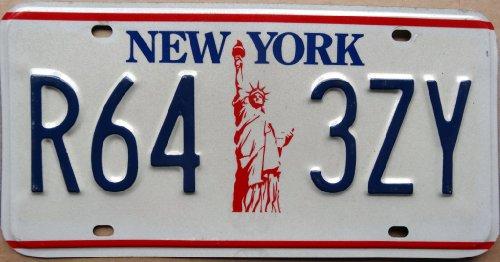 Preisvergleich Produktbild Autoschild NEW YORK ~ Motiv Freiheitsstatue ~ Blechschild mit Motiv
