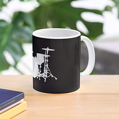 Drums Drumset Drumkit Drummer Musician Mug Percusion Meistverkaufte Standardkaffee 11 Unzen Geschenk Tassen für alle