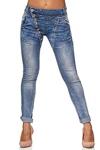 Elara Mujer Jeans | Botones | Cremallera | Chunkyrayan